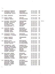 resultats coupe dete1995 2de2